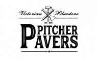 Logo design pitcher pavers logo 2020